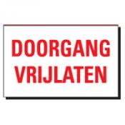 TSD 02 DOORGANG VRIJLATEN wit-rood