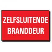 TSD 09 ZELFSLUITENDE BRANDDEUR rood-wit