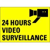 TSD 15E 24 HOUR VIDEO SURVEILLANCE geel-zwart