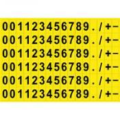 Cijfer- en lettersets permanent klevend polyester