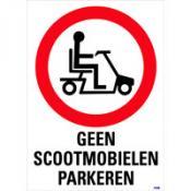 Scootmobiel verbodsbord