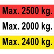 Maximum gewicht stickers