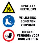Bord 9 Instructie Calamiteiten 3 pictogrammen