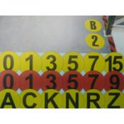 Vloermarkering cijfers en letters