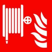 ISO Brandslang sticker