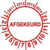 Keuringssticker 13 F AFGEKEURD