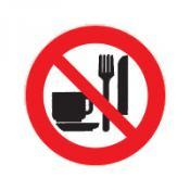 Eten en drinken verboden bord