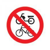 Fiets en bromfiets verbod sticker