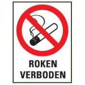 Roken verboden + tekst sticker