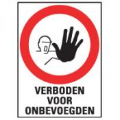 Verboden voor onbevoegden sticker