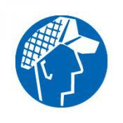 Heren haarnet sticker