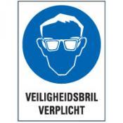 Veiligheidsbril tekst sticker