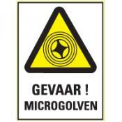 Microgolven tekst sticker