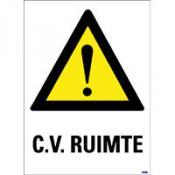 CV ruimte tekst sticker