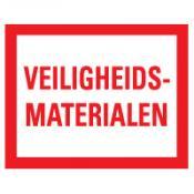 Veiligheidsmaterialen sticker