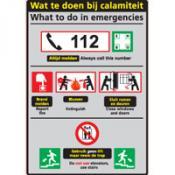 Calamiteit Ned-Eng sticker
