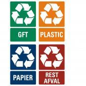 Recycle tekststickers