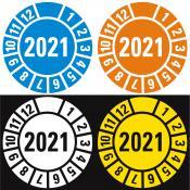 Keuringssticker 2021 diverse kleuren